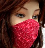 Stoffmaske, Mundschutz, MNS,  Dünne Sommermaske, Punkte rot