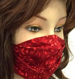 Stoffmaske, Mundschutz, MNS,  Dünne Sommermaske, Punkte -Blumen rot