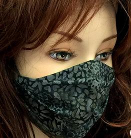 Stoffmaske, Mundschutz, MNS,  Dünne Sommermaske, Blumen grau