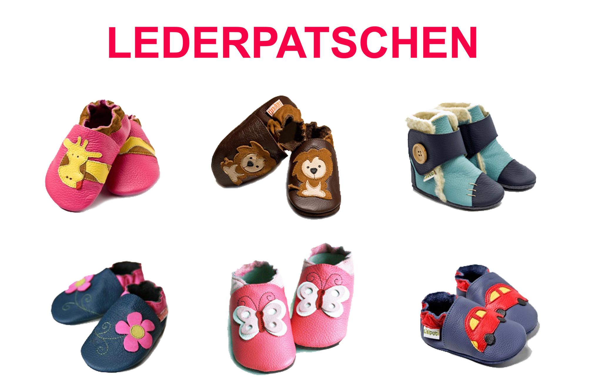 Lederpatschen, Lederpuschen, Krabbelschuhe, Kinderpatschen, Kindergarten Patschen, Babypatschen, Baby Patschen, Babyschuhe, Baby Schuhe