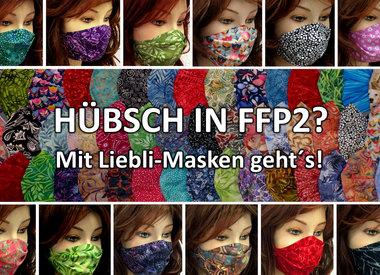 Gemusterte FFP2 Masken