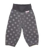 Softshell Hose für Kinder, Outdoor Hose, Regenhose, grau mit reflektierenden Sternen