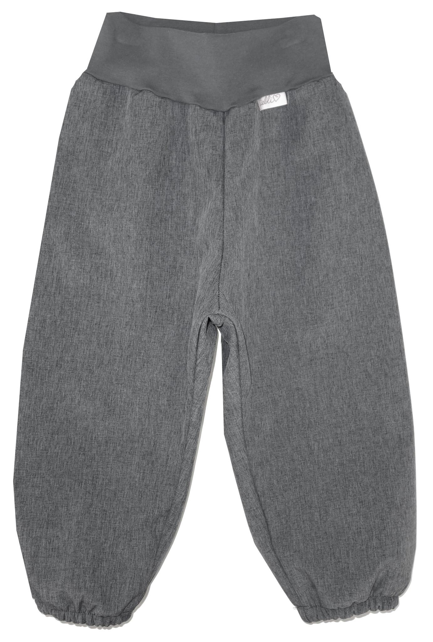 Softshell Hose für Kinder, Outdoor Hose, Regenhose grau