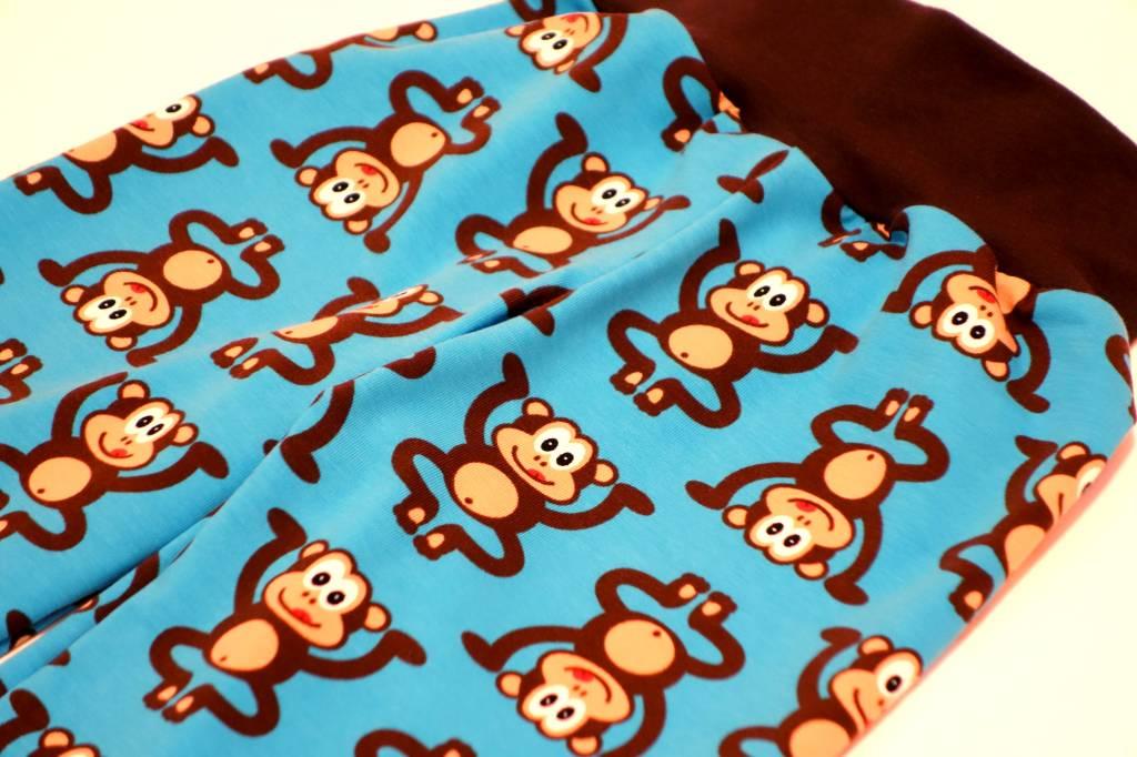 Bunte Kinderhose Affen, blau, Gr. 74, 80, 86, 92, 98, 104