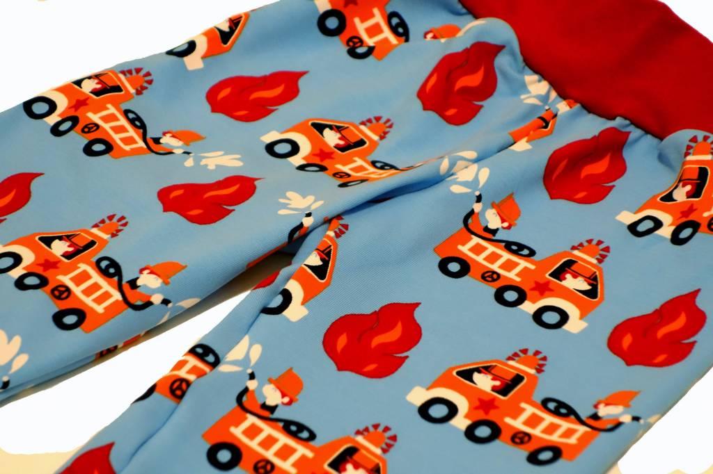 Bunte Kinderhose Feuerwehr, blau, Gr. 74, 80, 86, 92, 98, 104
