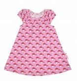 Bunte Tunika Kleid Fliegenpilze auf rosa