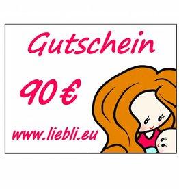GUTSCHEIN im Wert von 90 Euro