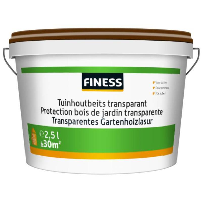 Finess Tuinhoutbeits Transparant 2.5 Liter