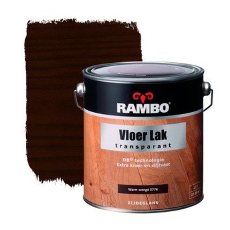 Rambo Vloerlak Transp. Acryl 2.5L Warm Wengé