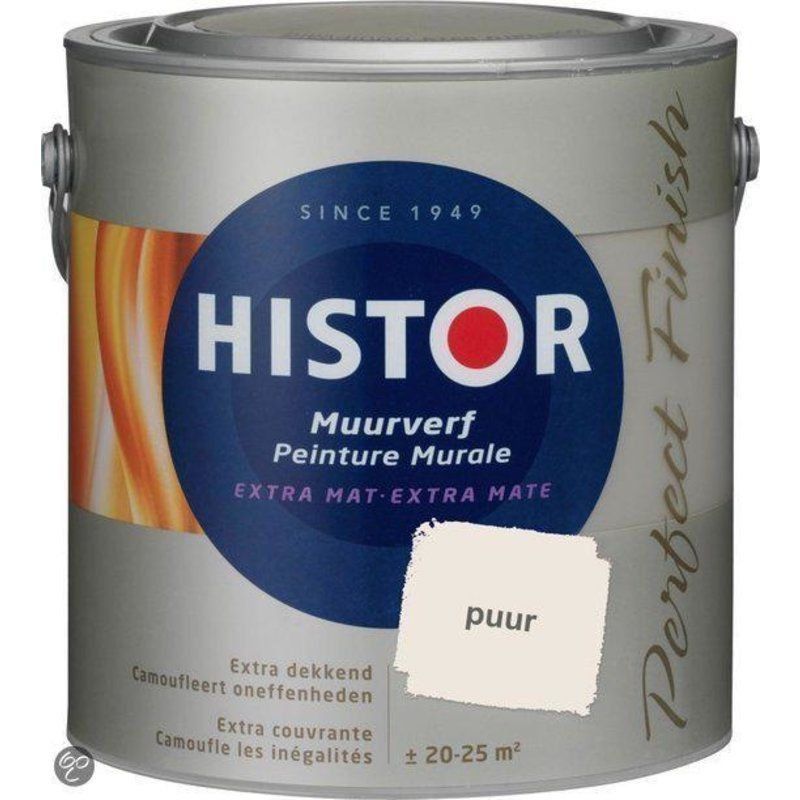 Histor Perfect Finish  Muurverf Mat 2,5L Puur 6932
