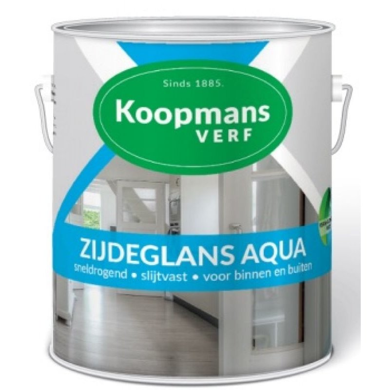 Koopmans zijdeglans Aqua 0,75L Donkere kleuren