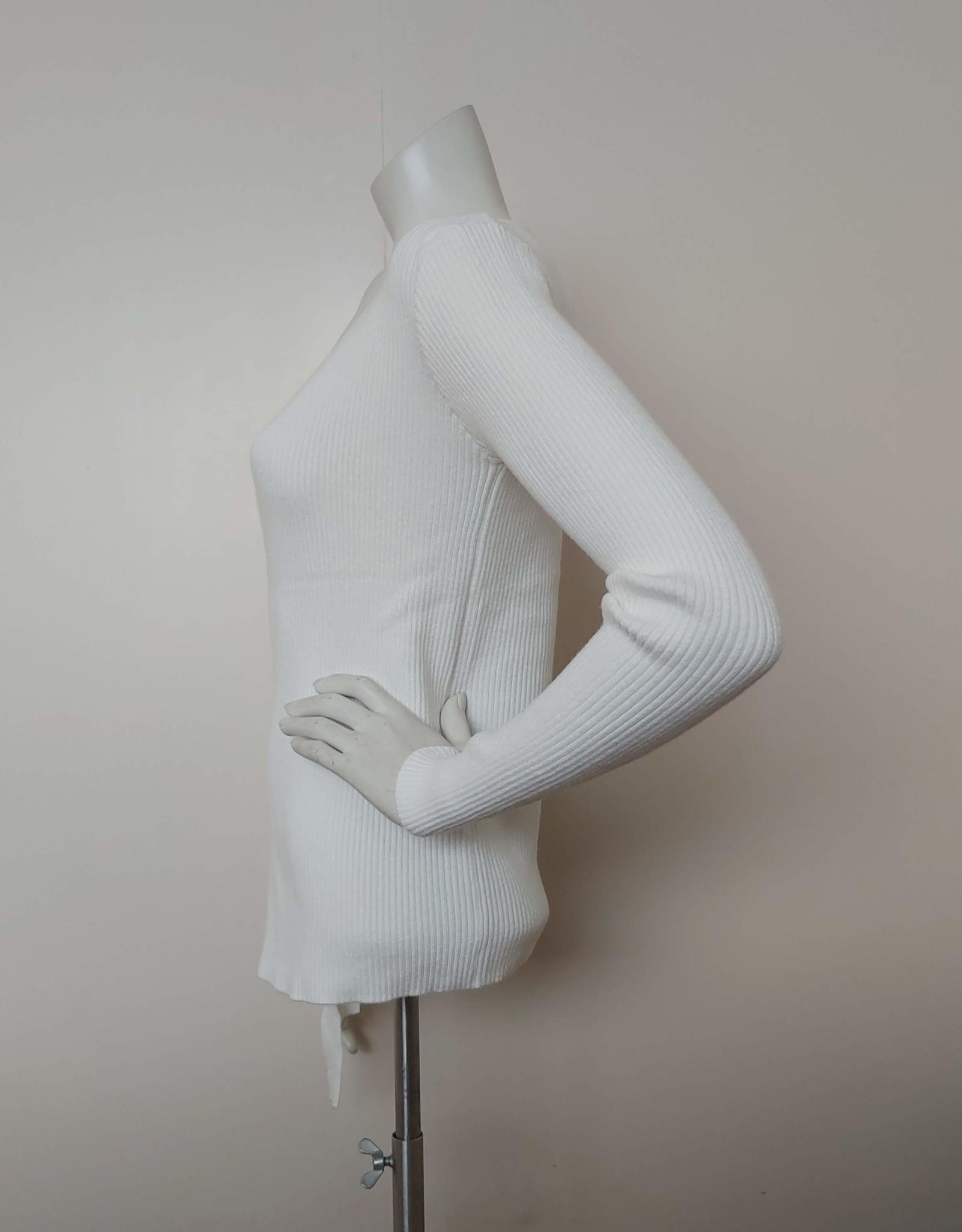 white icy wikkel vest wit