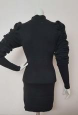 vintage Vintage jurk zwart