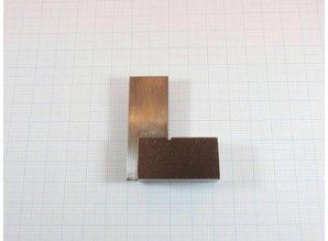 Blokhaak - winkelhaakje  49x53mm