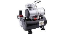 Airbrush mini compressor met luchttank