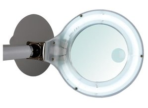 DESK LAMP WITH MAGNIFYING GLASS - DAYLIGHT - 3 + 12 DIOPTRE - 12W - WHITE