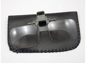 Loepbril clip on 2x vergroting