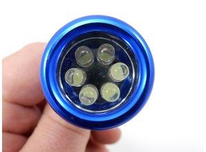 Led Taschenlampe - 6 leds - inklusieve Batterien