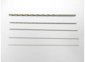 Extra lange mini boortjes - Set 0.5/0.7/1.0/1.5/2.5mm