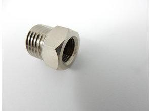 Airbrush koppeling: binnendraad G1/8 - buitendraad G1/4