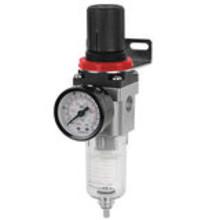 Pressure regulator and moisture separator for compressor