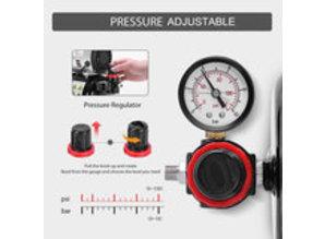 Drukregelaar en vochtafscheider voor compressor