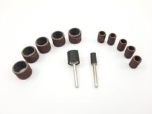 Mini sanding drum set - 12 pcs.