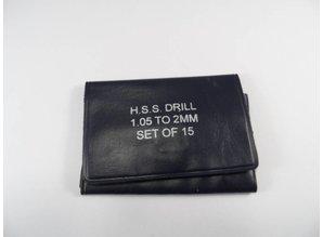 Spiralbohrersatz 1.05 - 2.00mm - HSS
