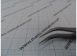 Cross Tweezer Bent Tips - Stainless Steel