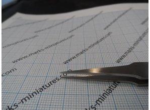 Kreuz Pinzette gerade flache eckige Spitzen - Rostfrei Stahl
