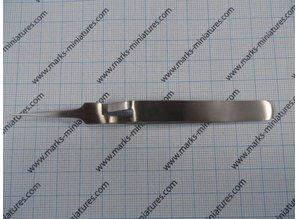 Cross Tweezer straight narrow Tips - Stainless Steel
