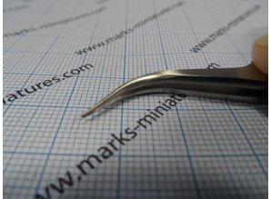 Pincet gebogen punt - RVS / antimagnetisch