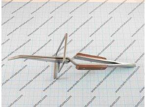 Cross Tweezer curved on stand - heat resistant