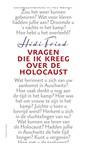 Meer info over Hédi Fried Vragen die ik kreeg over de Holocaust bij Luisterrijk.nl