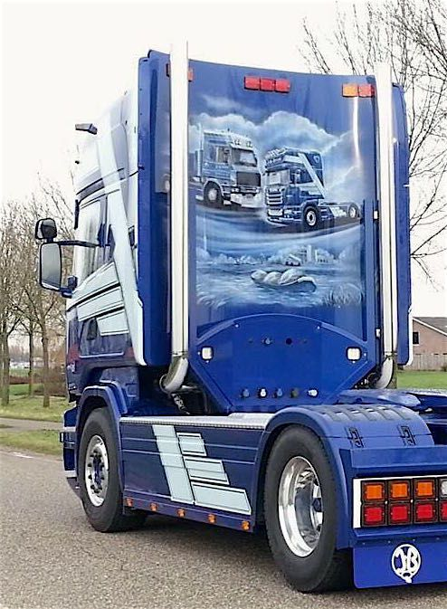 Backplate for Scania R series Topline