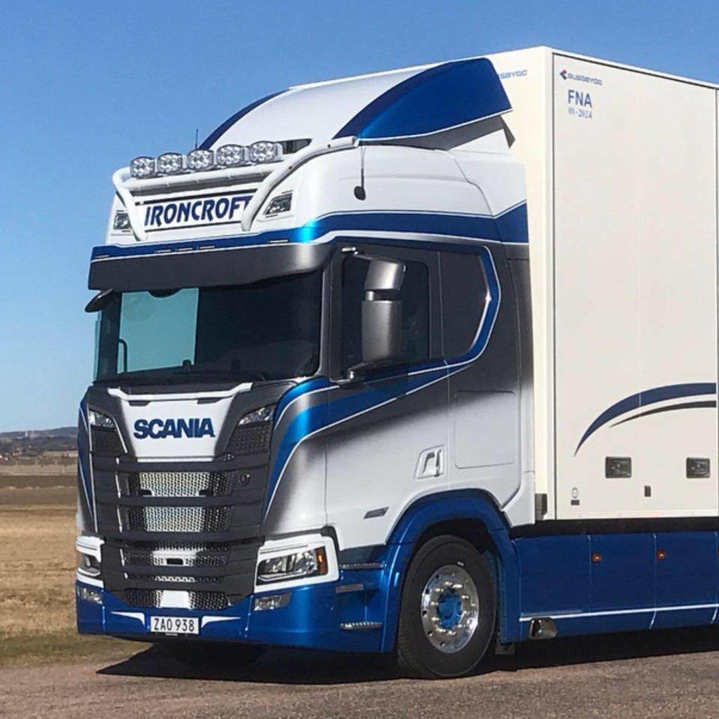 Coles Custom Glasfiber Sunvisor for Scania NextGen