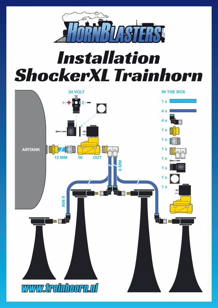 Hornblasters Shocker XL Trainhorn