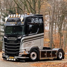 Oranje dagrijverlichting voor de Scania Nextgen