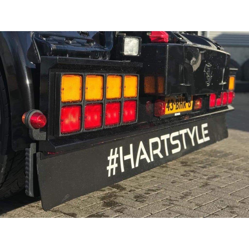 Zwarte spatlap 248x35cm