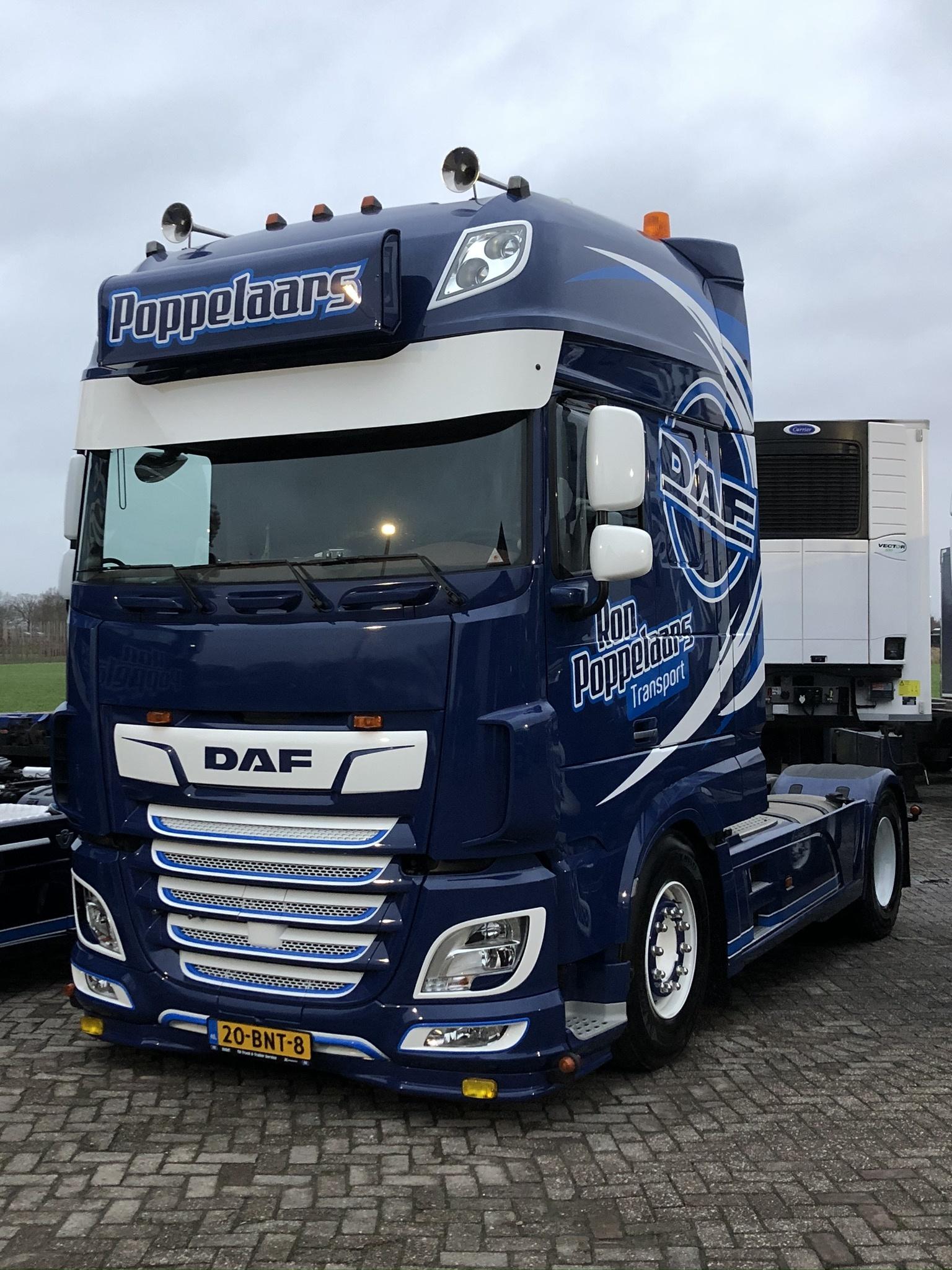 RVS Lichtbaksteunen voor DAF Super Space Cab - Go-in-Style.nl