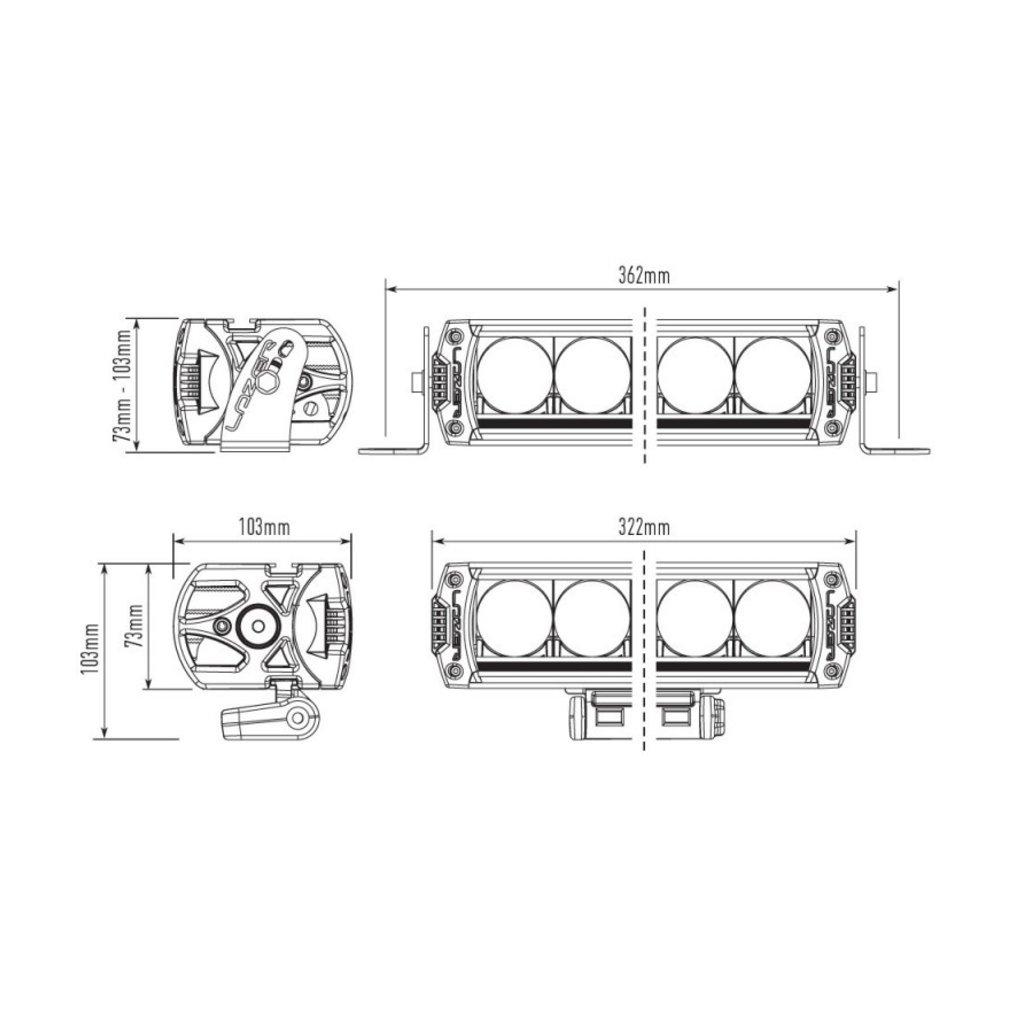 Lazer Triple-R 850 zwart met positielicht 322mm