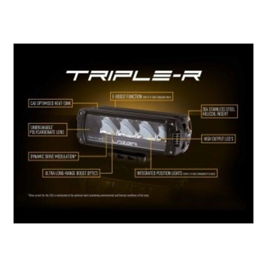 Lazer Triple-R 1000 zwart met positielicht 410mm