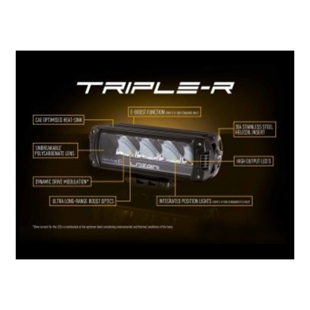 Lazer Triple-R 1250 zwart met positielicht 590mm