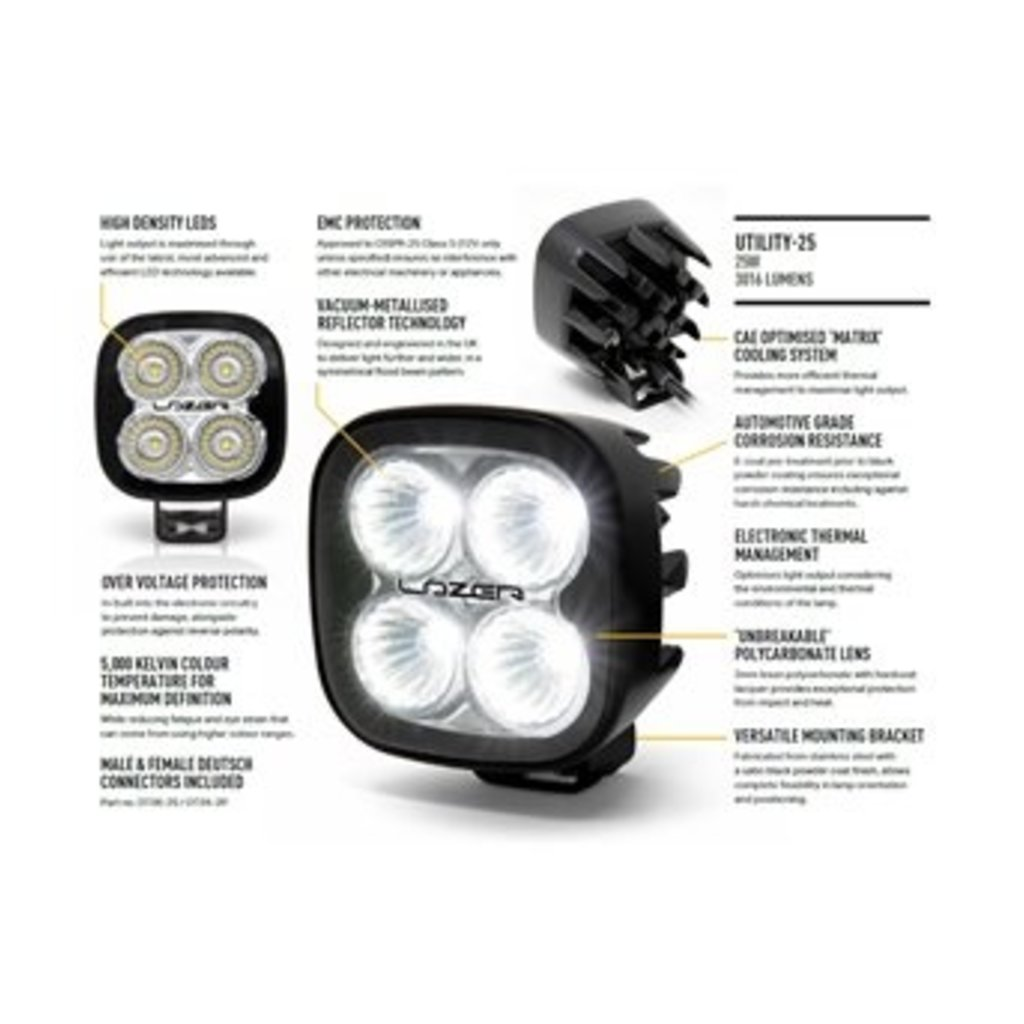Lazer Utility-25 Led work lamp with 5 year warranty!