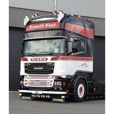 Stainless Sunvisor Scania 4-serie / R-serie