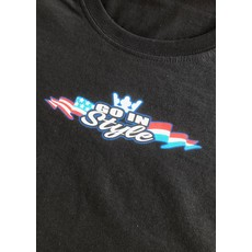 T-Shirt #gewoongis black with full colour print