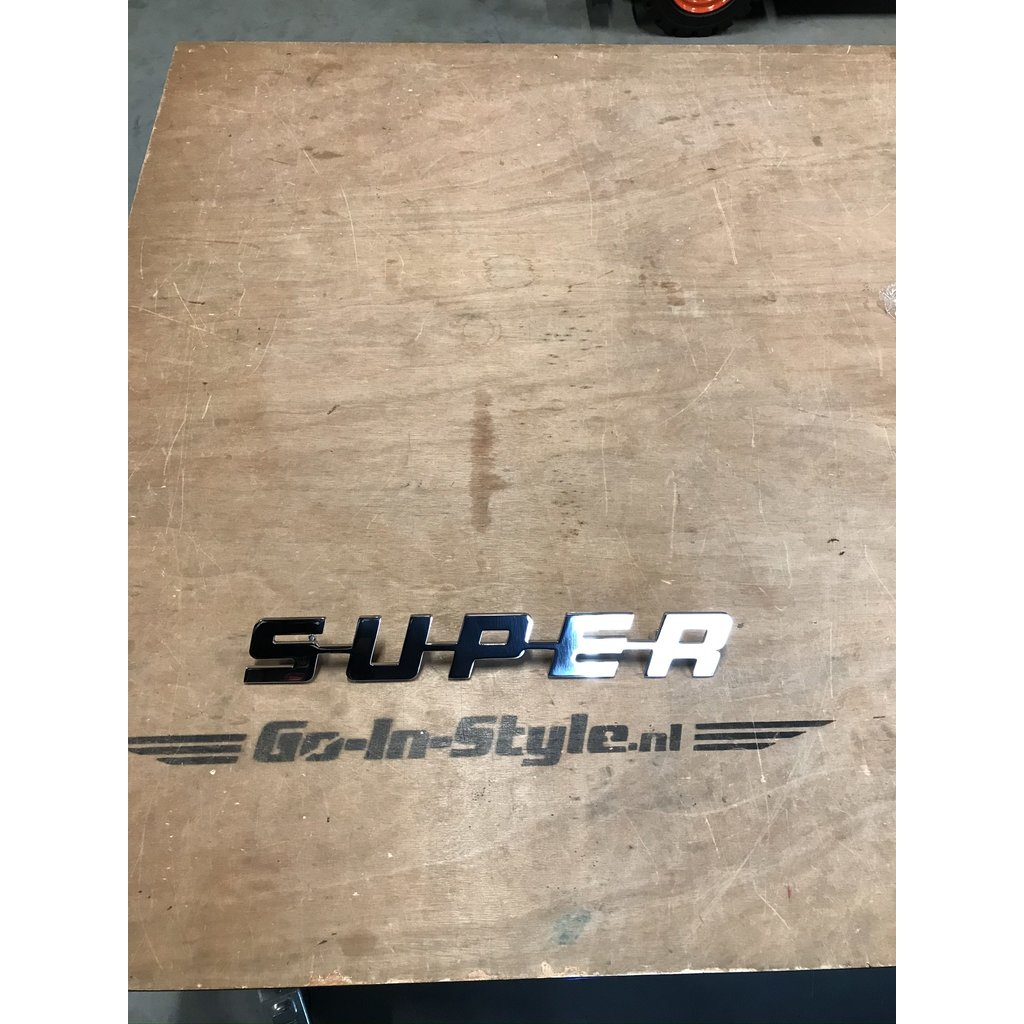 Scania SUPER emblem, polyester or Stainless steel