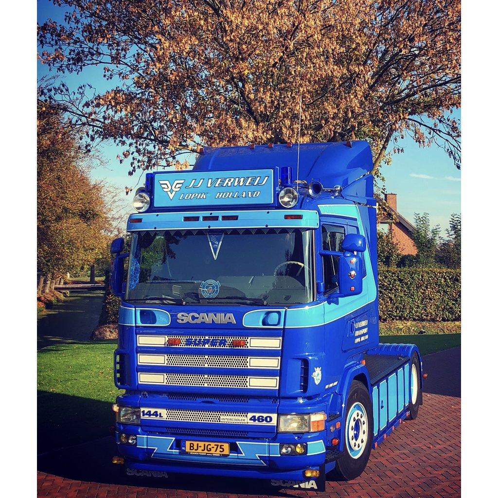 Scania SUPER embleem polyester of RVS