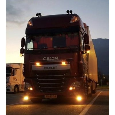 Amber Daytime running lights DAF XF and CF