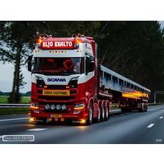 Originele Scania 4/R-serie zonneklep lamp in oranje/wit/led en bol